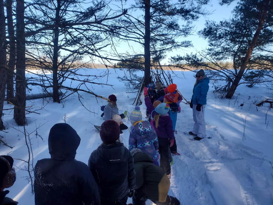 LSA students snowshoeing