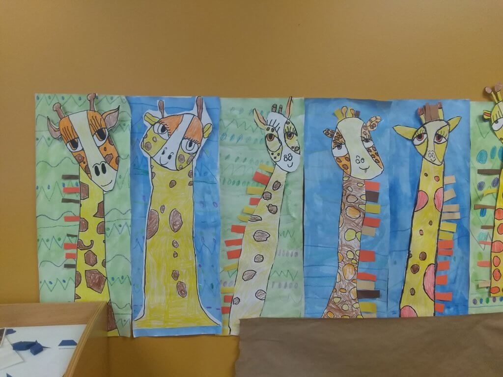 Giraffe artwork created by students 4
