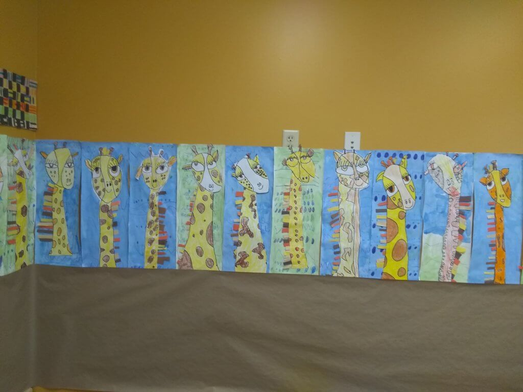 Giraffe artwork created by students 2
